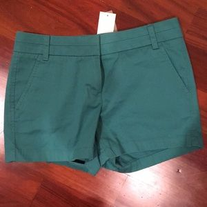 NWT J. Crew Chino Short, Teal, Size 2